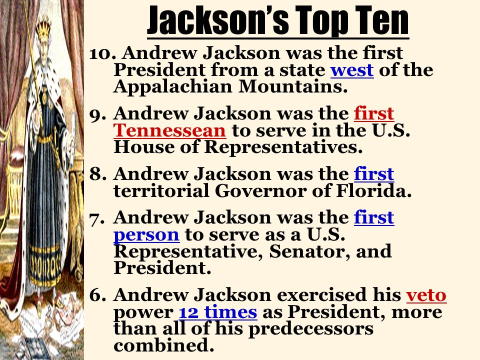 andrew jackson champion of the people or king andrew Jackson was sometimes called king andrew the first because he wielded the power of the presidency almost as a king sometimes.