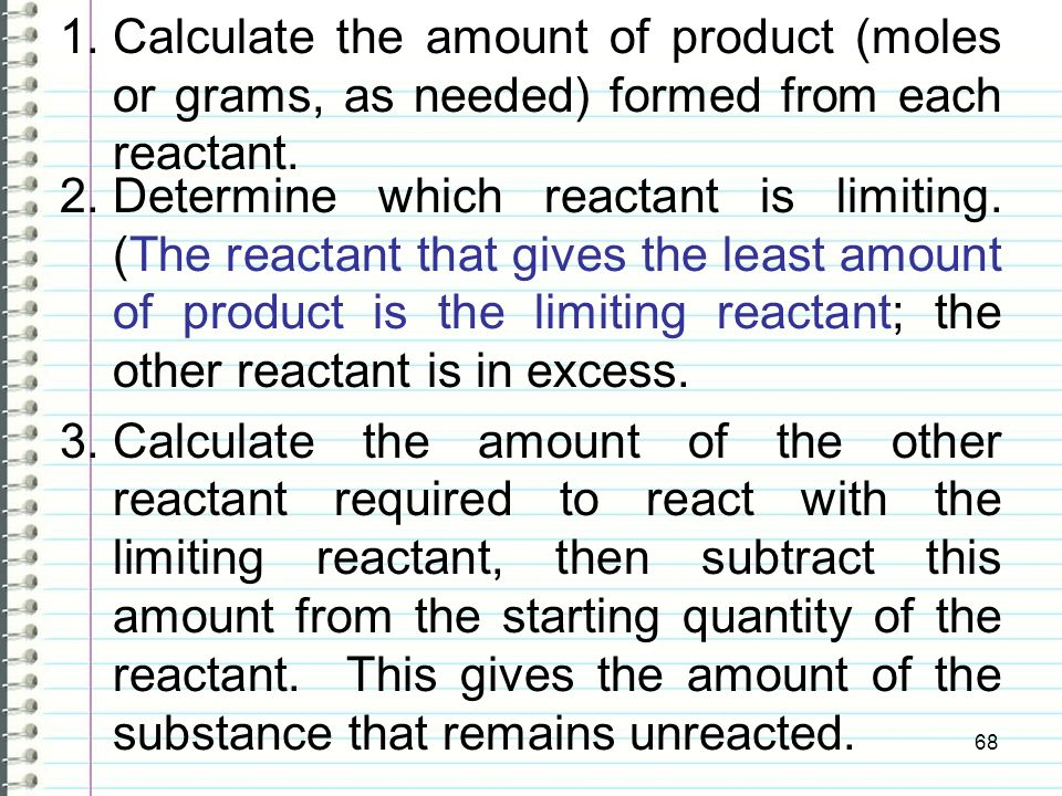 how to find the limiting reactant with two products