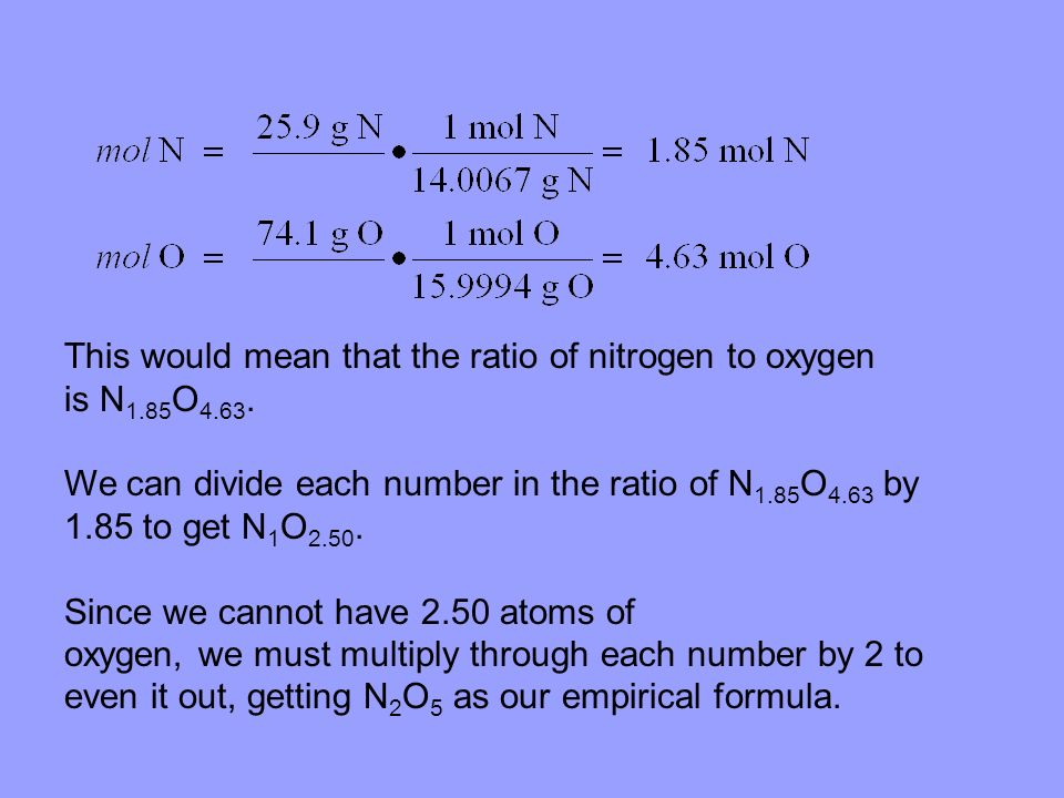 This would mean that the ratio of nitrogen to oxygen