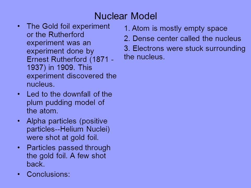 Nuclear Model