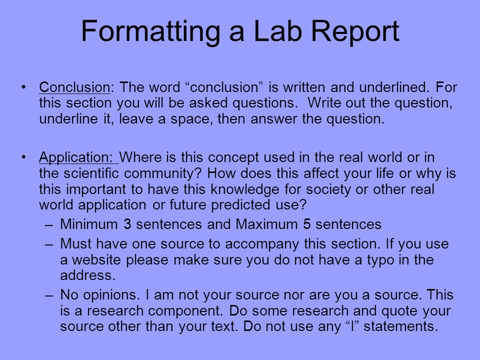 writing laboratory and other research reports pechenik Note that (1) you may not receive help from others in writing the report, (2) the report must be work done originally for this class--it should not contain writing or research you or anyone else has done in other contexts, and (3) it should be free of plagiarism (see next section.