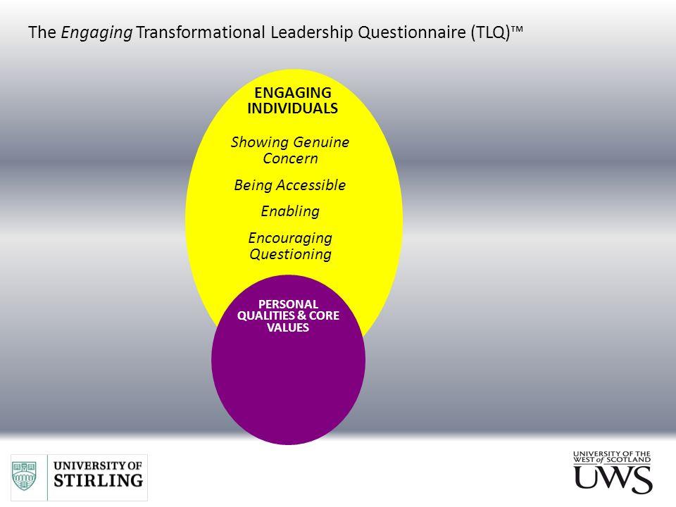 transformational leadership questionnaire tlq The transformational leadership questionnaire (tlq of a new transformational leadership questionnaire personality and transformational leadership most 29.