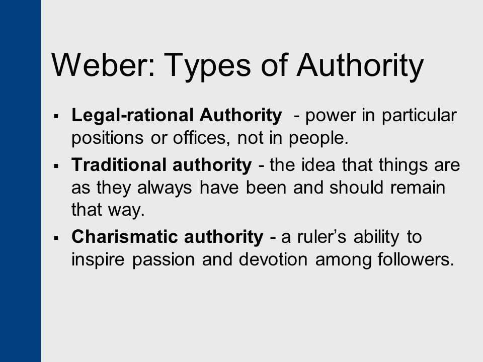 """weber on legitimate norms and authority In the case of political legitimacy, the norms expected of a leader  of legitimate authority  political legitimacy, weber described """"the ."""