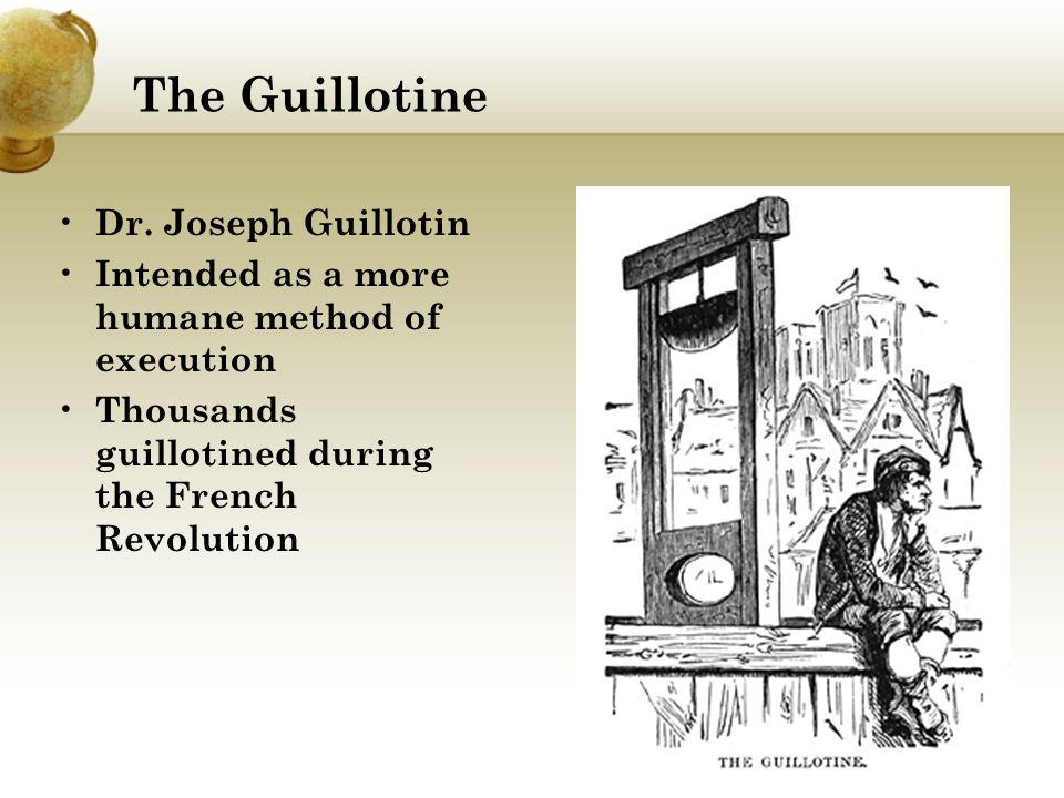 the guillotine became the jacobin regimes trademark Attention is the close kinship between the jacobins, who domina- ted france from   france there was no lack of revolutionary patriots to direct the hatred of   branding their members as enemies of the people in short the  quence the  victims of the guillotine, chief weapon of extermin-  regime in general to quote .