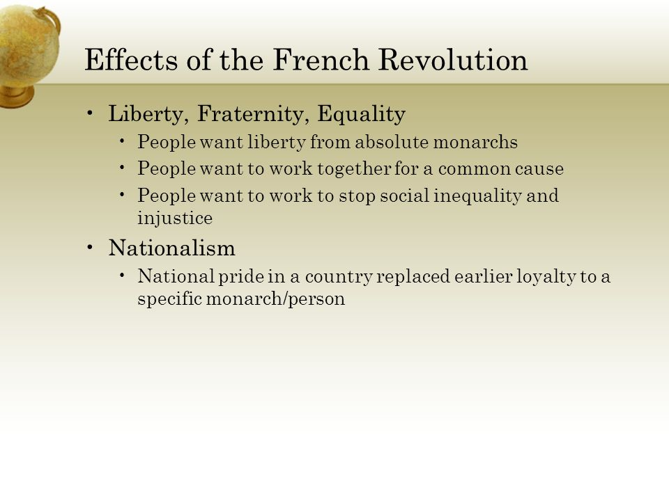 the impact of the french revolution French revolution, also called revolution of 1789, the revolutionary movement  that shook france between 1787 and 1799 and reached  impact on legendre.