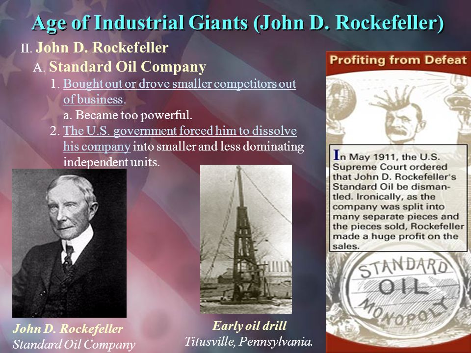An overview of the john d rockefellers american business