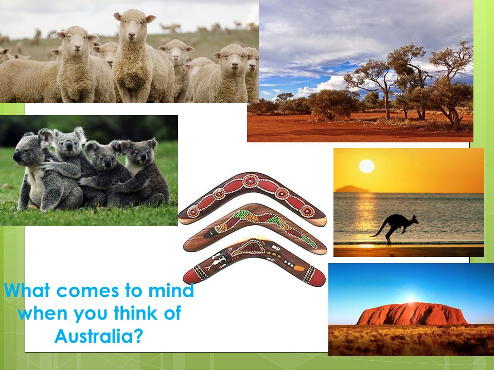 What comes to mind when you think of Australia