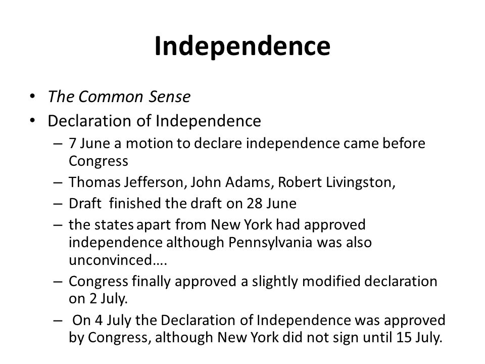 the issues considered upon writing the declaration of independence So begins the declaration of independencebut what was the declaration why do americans continue to celebrate its public announcement as the birthday of the united states, july 4, 1776.