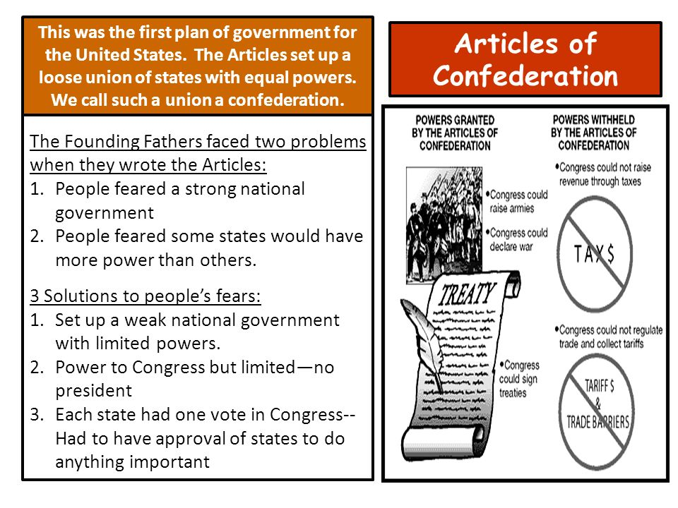 an analysis of three problems that existed under the articles of confederation Start studying chapter 5: the american revolution and confederation (1774 - 1787)) learn vocabulary, terms, and more with flashcards, games, and other study tools.