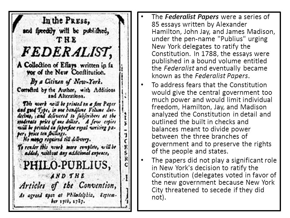 essay urging ratification new york Quizlet the essays urging ratification during the new york ratification debates were known.