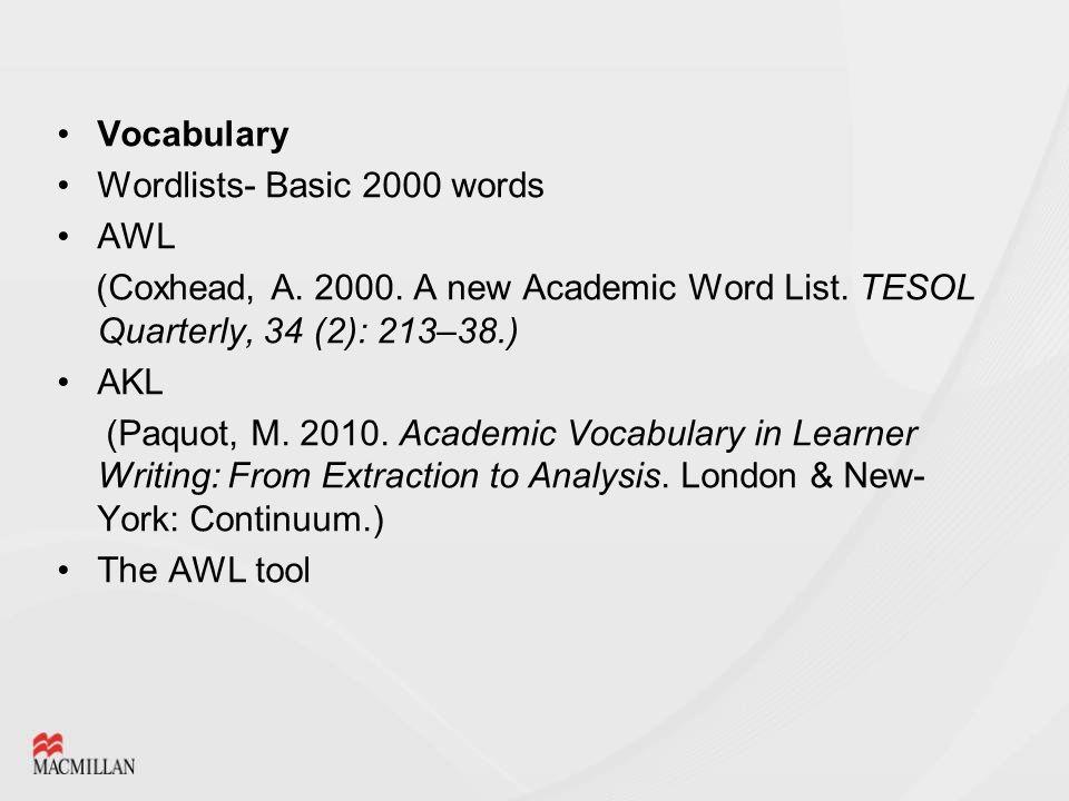 new academic word list pdf