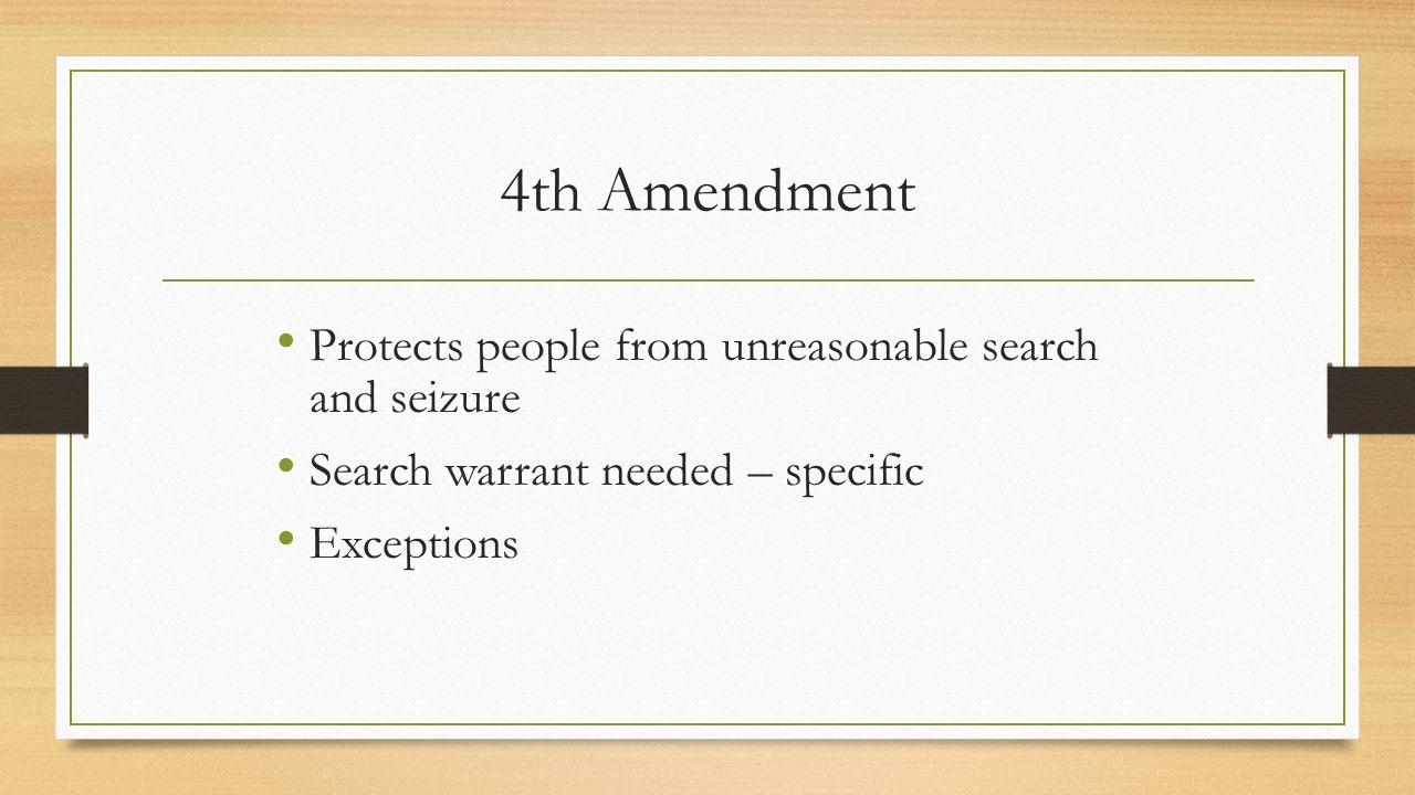 fourth amendment exceptions