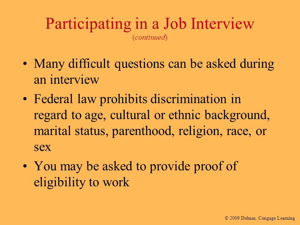 job interview reflective account