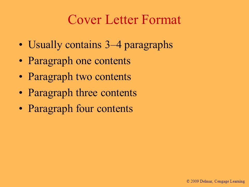 Preparing for the world of work ppt video online download for One paragraph cover letter