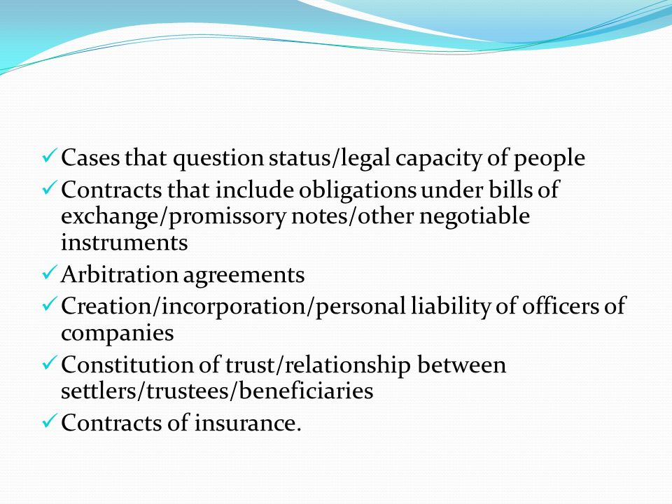 Cases that question status/legal capacity of people