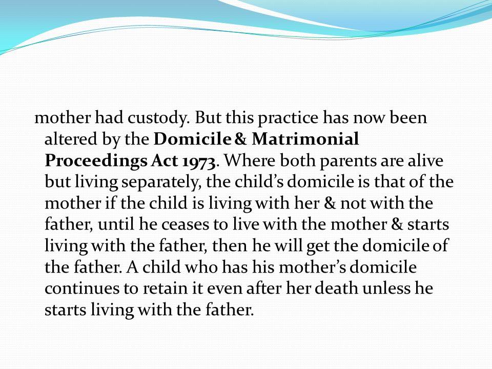 mother had custody.