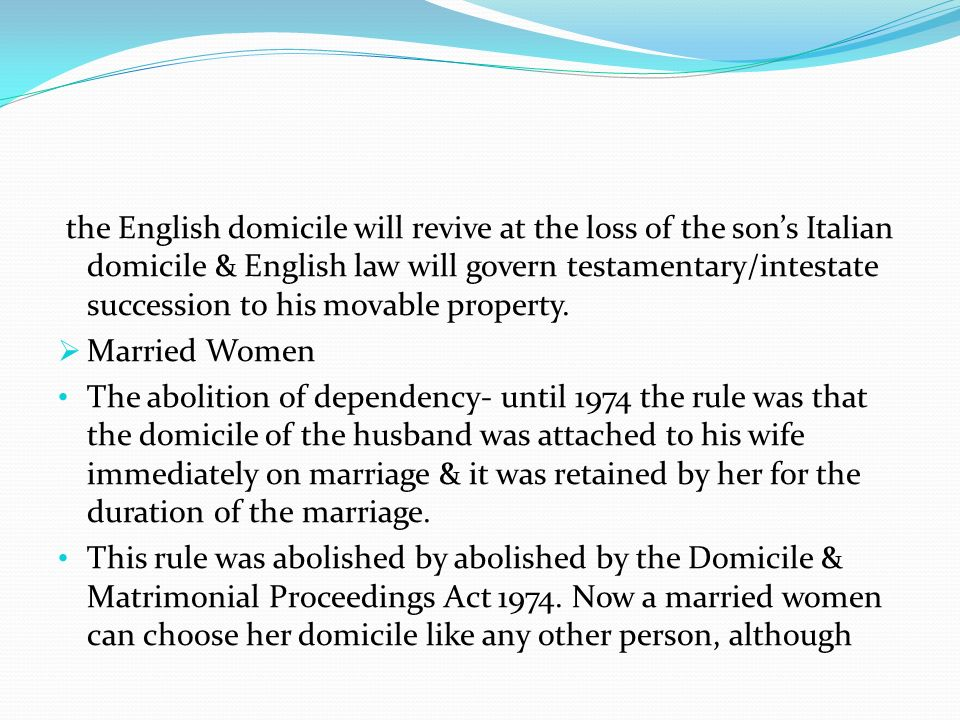 the English domicile will revive at the loss of the son's Italian domicile & English law will govern testamentary/intestate succession to his movable property.