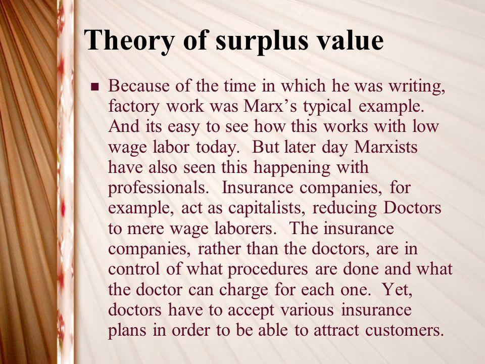 karl marx theory of surplus value pdf