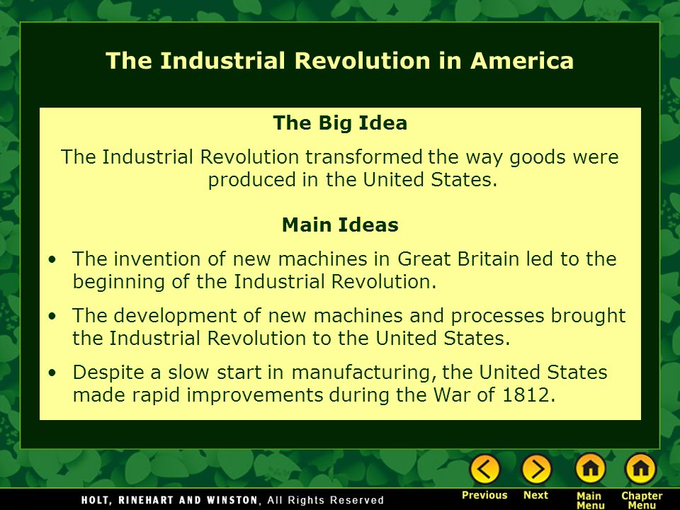 the corporate development during the american industrial revolution History of europe - revolution and the growth of industrial society, 1789–1914: developments in 19th-century europe are bounded by two great events the french.