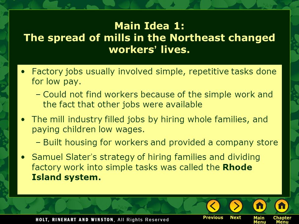 What Was The Rhode Island System Of Factory Work