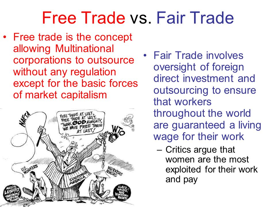 free and fair trade Michigan is a large manufacturing state relying heavily on free and fair global  trade to grow and create jobs we have a long and storied history.