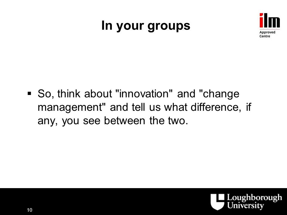 difference between innovation and change Diffusion of innovations is a theory that seeks to explain how, why three organizational characteristics match well with the individual characteristics above: tension for change (motivation and ability), innovation-system fit (compatibility), and assessment of implications.