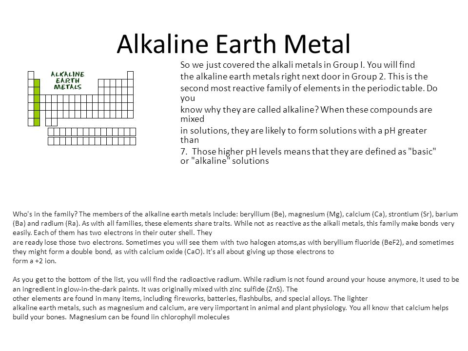 Reporting category 1 matter and the periodic table ppt download alkaline earth metal urtaz Image collections