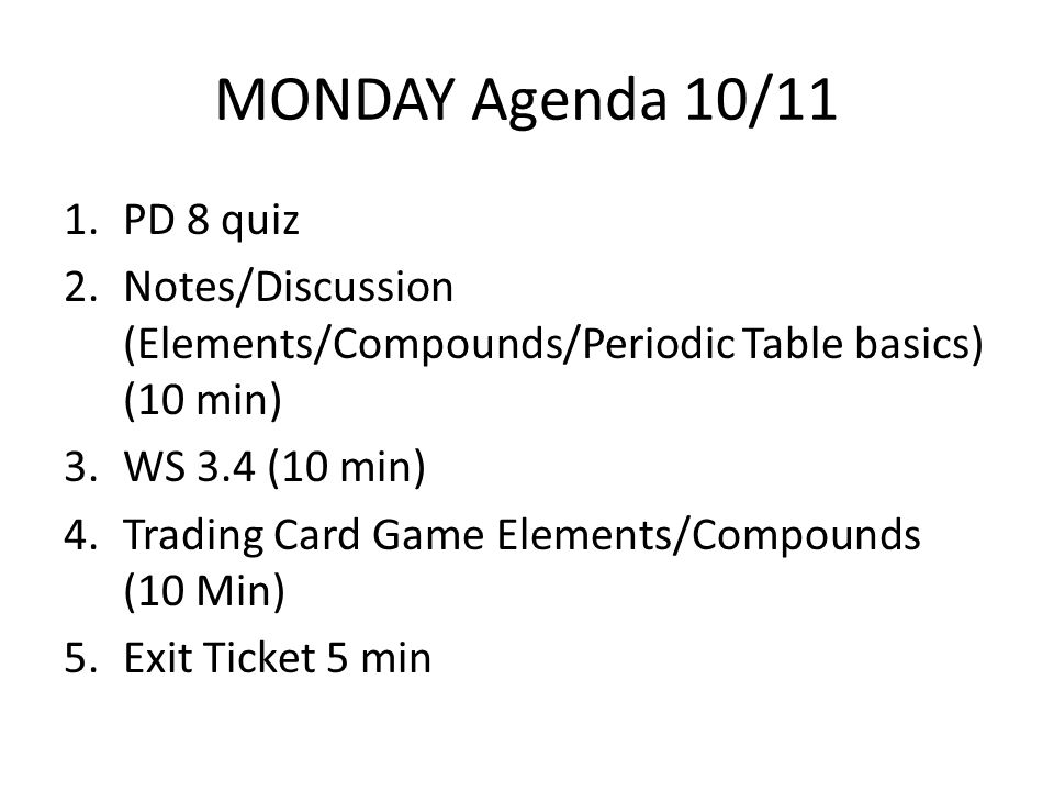 notesdiscussion elementscompounds - Periodic Table Of Elements Discussion