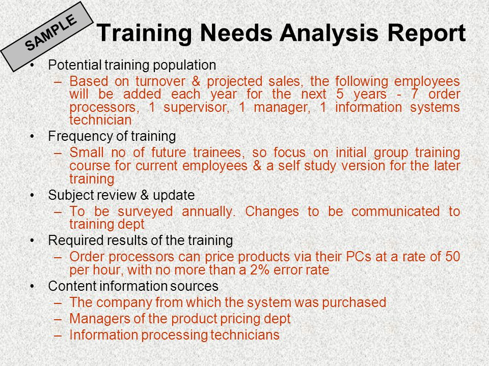 Writing a statistical report analysis training