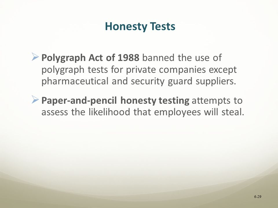 Research paper on polygraph test