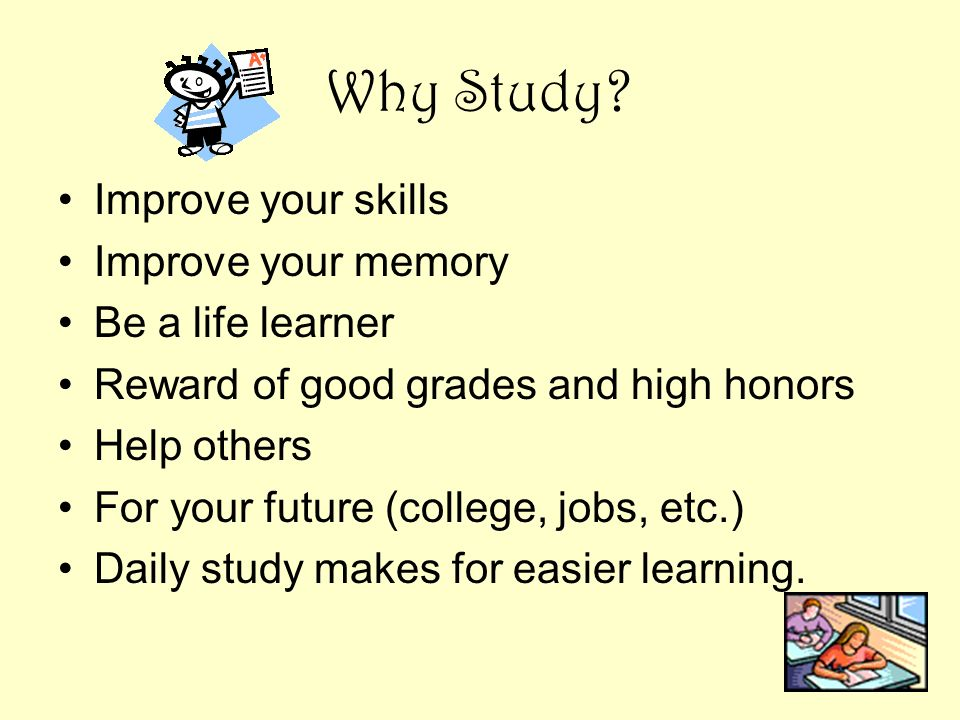 Study Skills — … learn good study skills for better grades ...