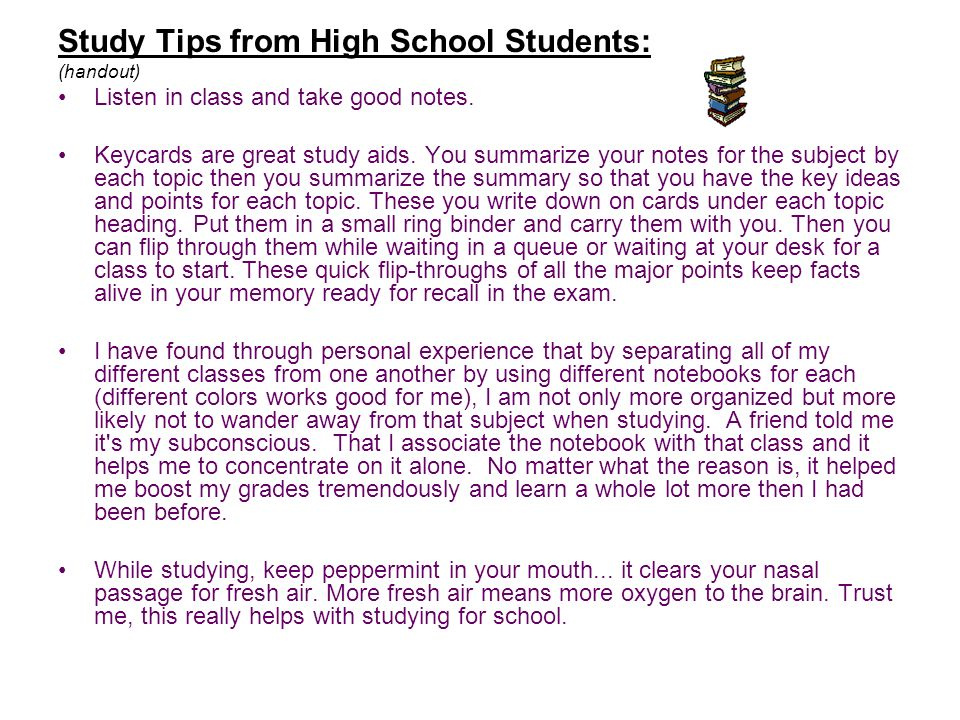 study tips  u0026 time management for high school students