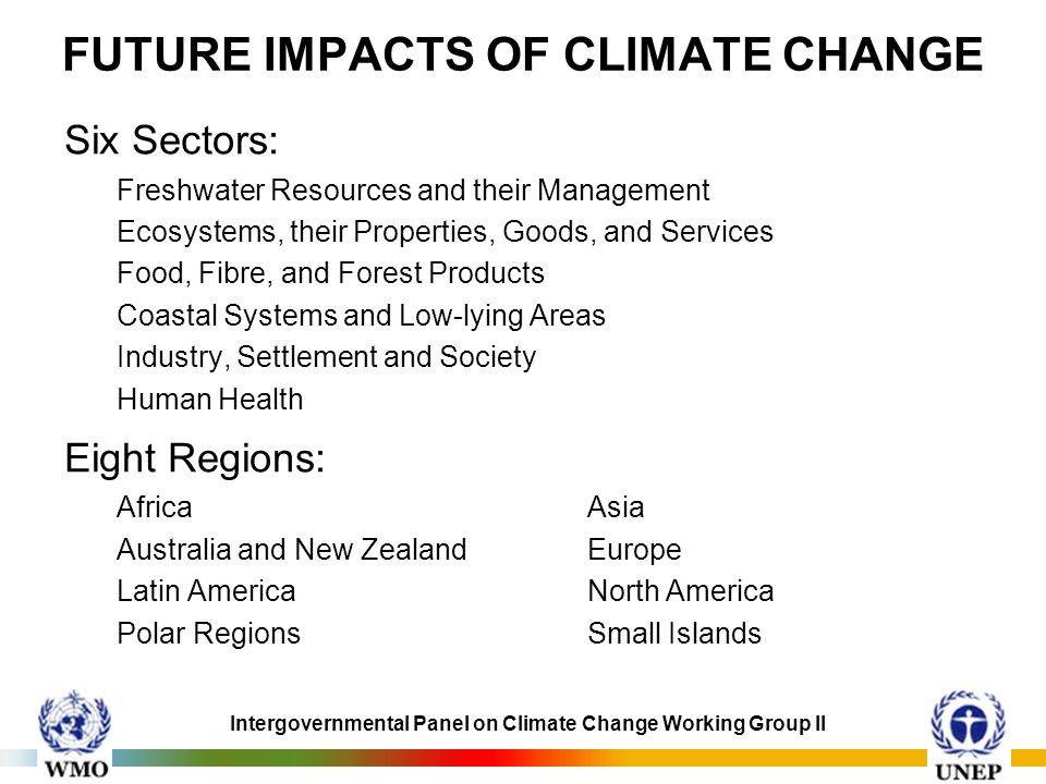 FUTURE IMPACTS OF CLIMATE CHANGE