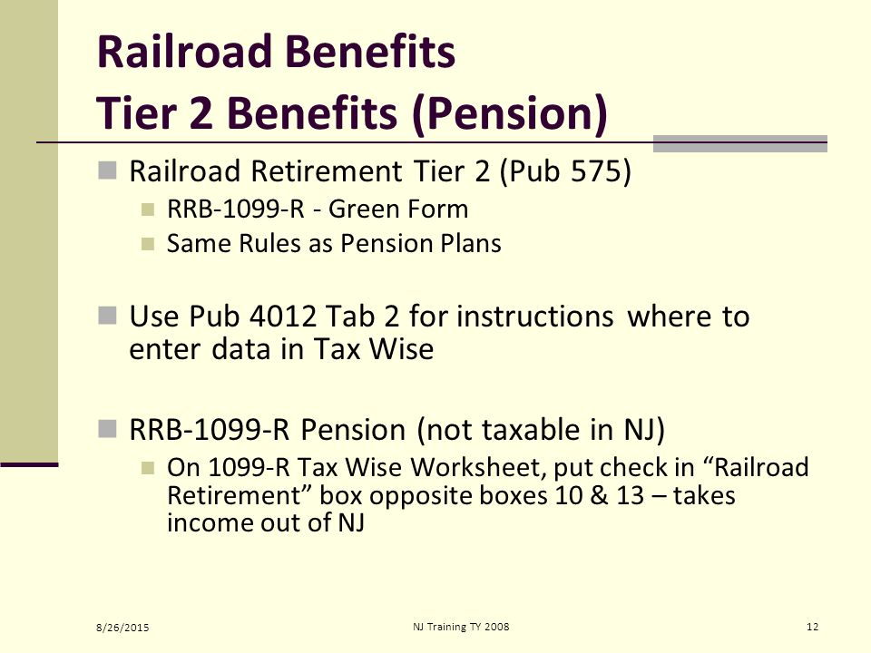 Social SecurityRailroad Retirement Benefits ppt download – 1099 Worksheet