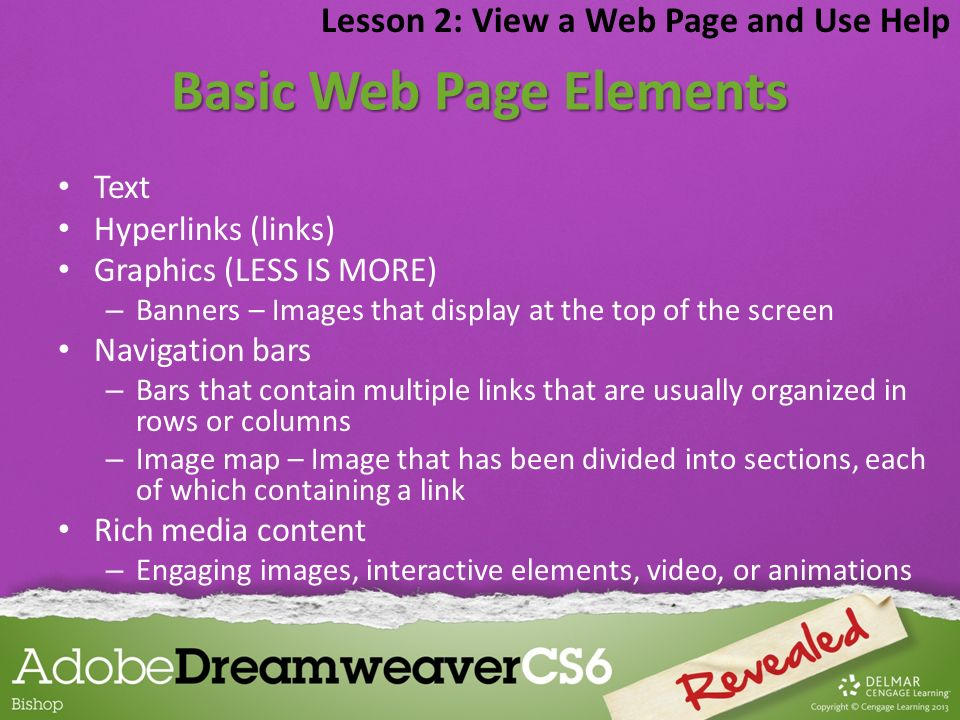 Basic Web Page Elements