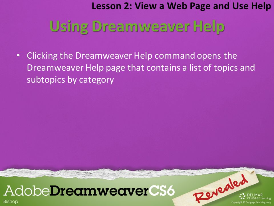 Using Dreamweaver Help