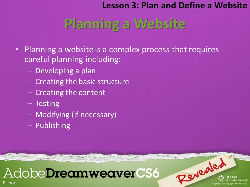 Planning a Website Lesson 3: Plan and Define a Website