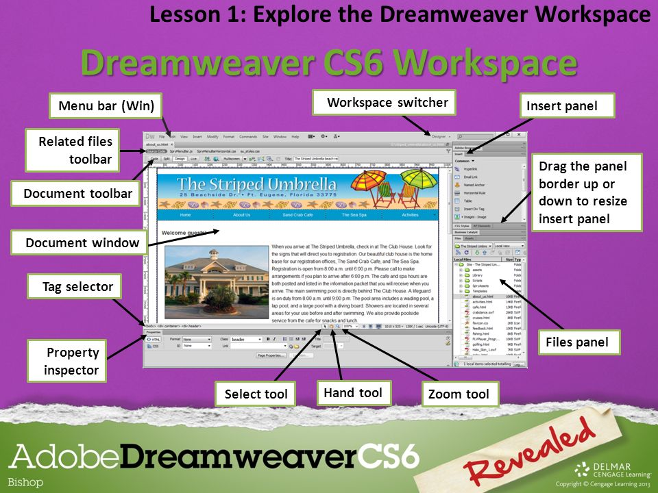 Dreamweaver CS6 Workspace
