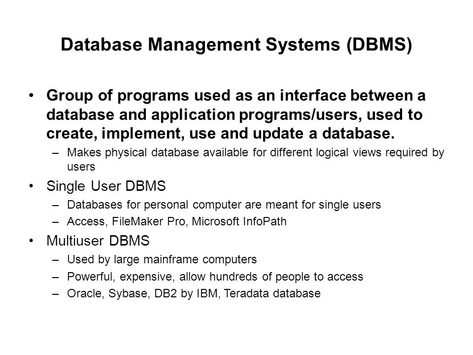 application of dbms in computer