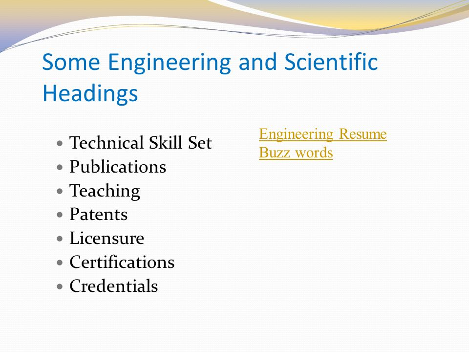 Resume skill buzz words