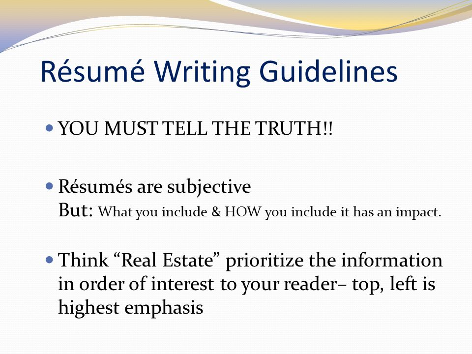 Engineering Your Résumé - Ppt Video Online Download