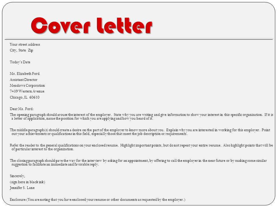 cover letter for future positions - spice up your resume served by d r i v e t h r u ppt