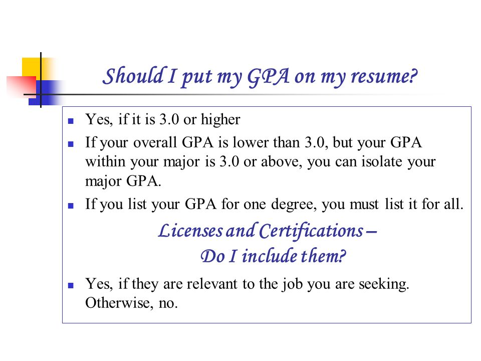 what do you put in a resumes