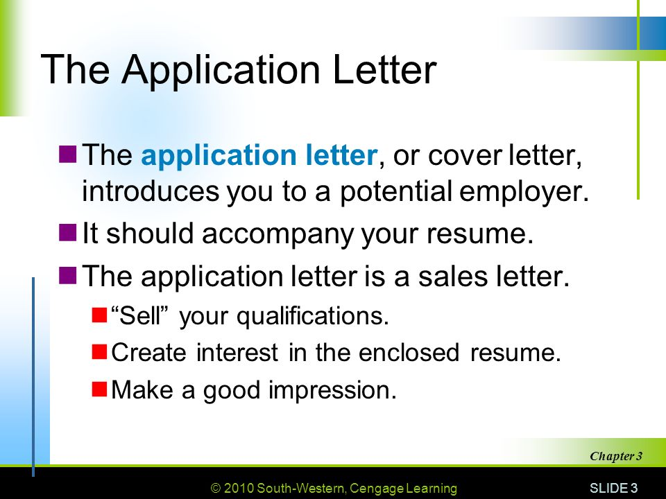 letter to accompany a resume essay on science and technology in