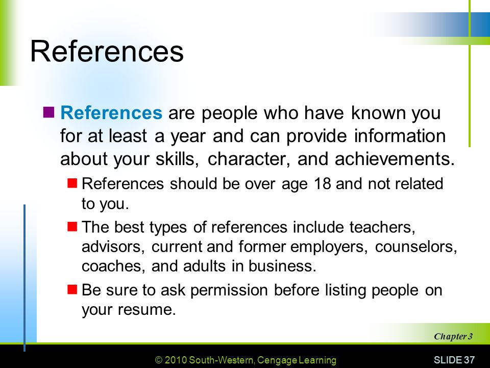 types of references for resumes
