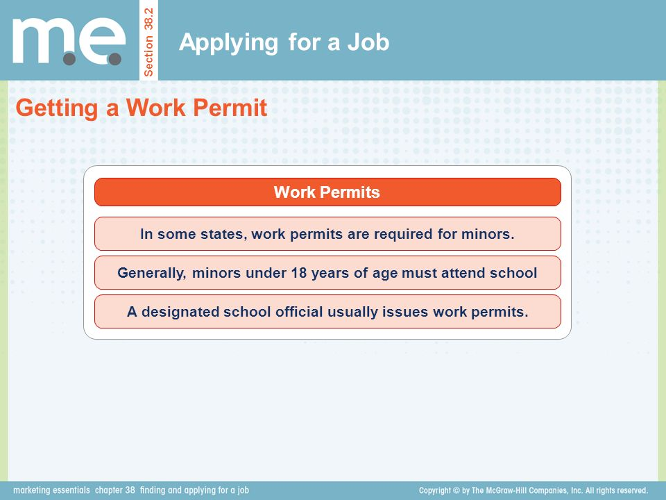 Applying for a Job Getting a Work Permit Work Permits