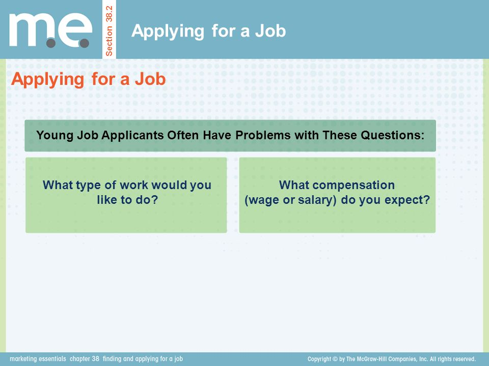 Applying for a Job Applying for a Job