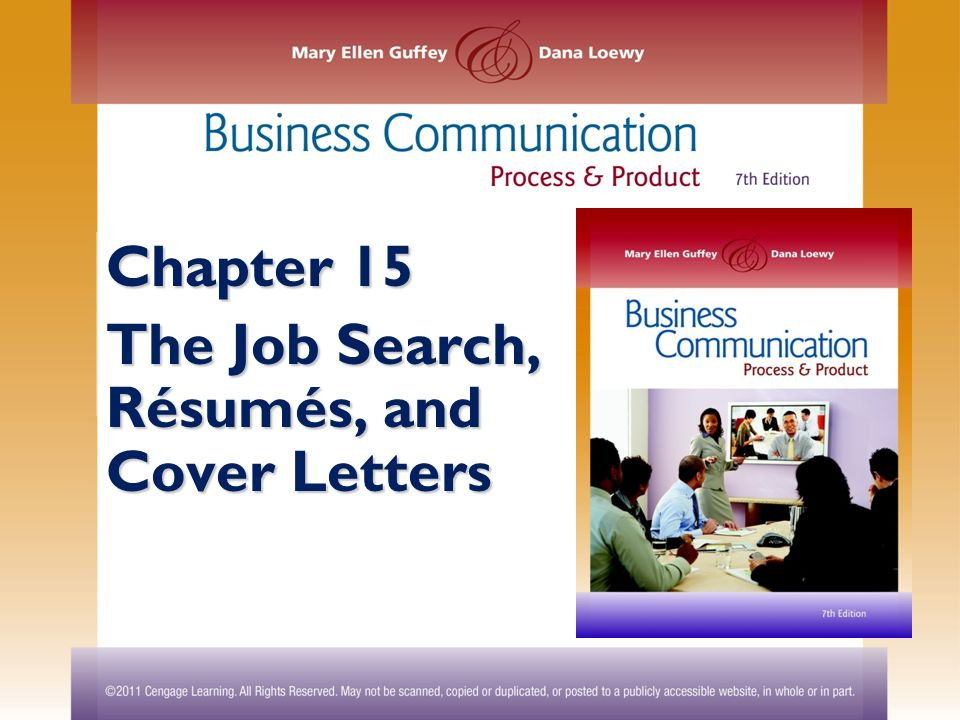 Chapter 15 The Job Search R Sum S And Cover Letters