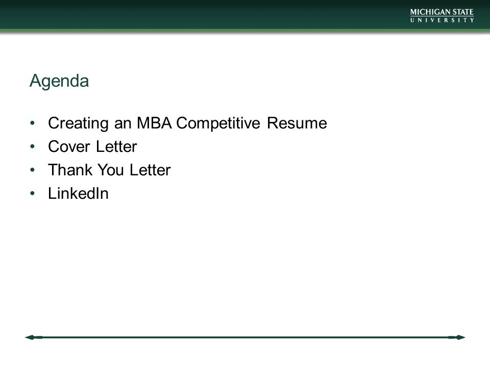 agenda creating an mba competitive resume cover letter - Competitive Resume