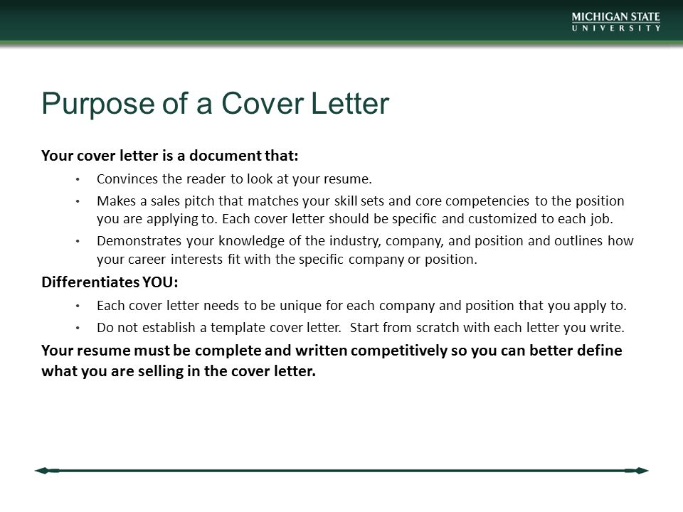 Mba career services center communication workshop ppt for What is the purpose of a covering letter